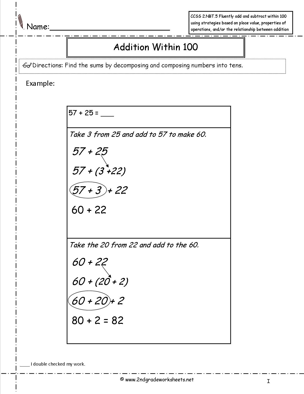 Adding And Subtracting Integers Common Core Worksheets