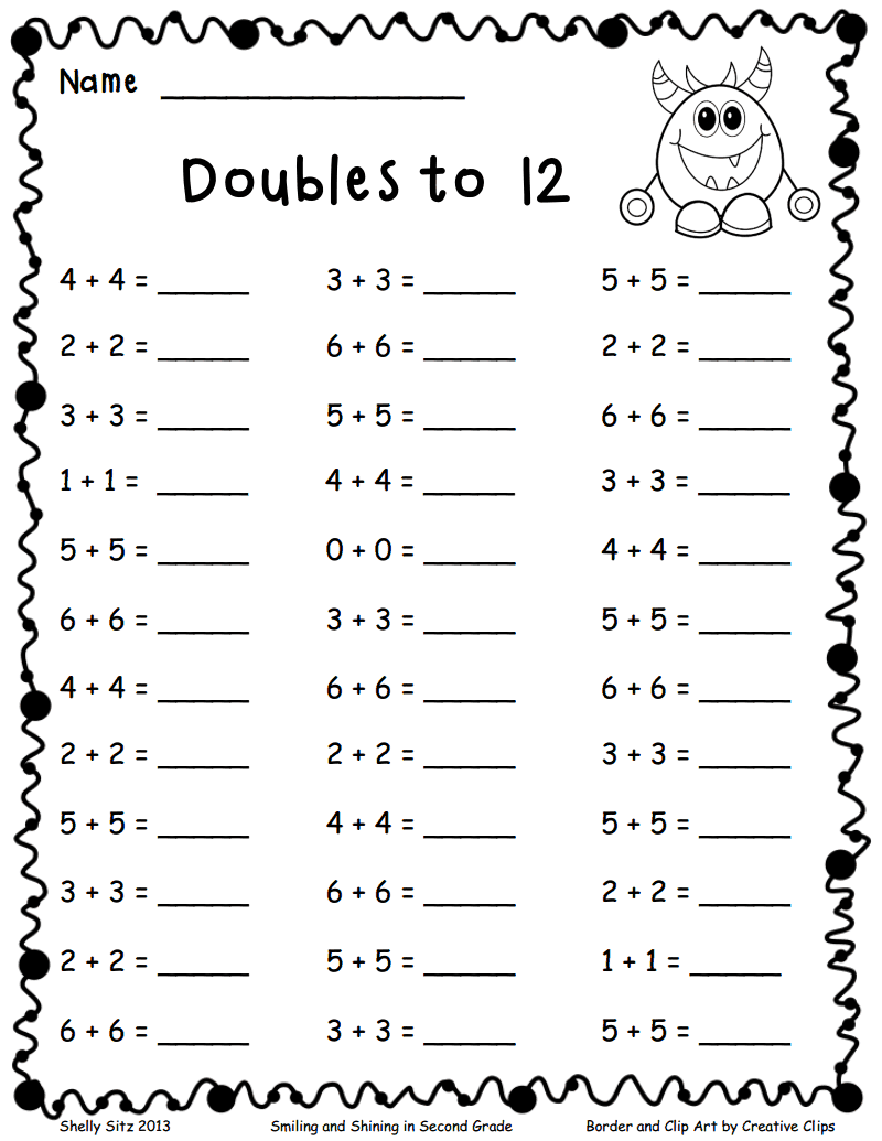 Adding And Subtracting Doubles Worksheets