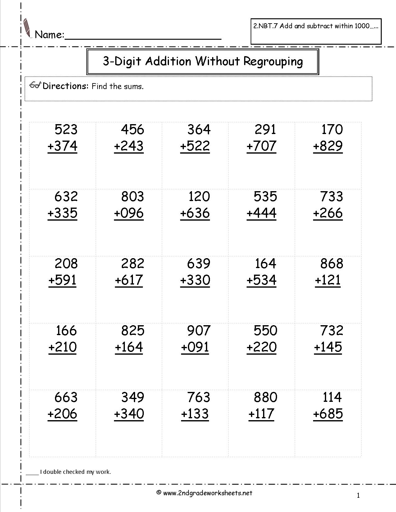 Worksheet ~ Addition And Subtraction Activities For 2Nd
