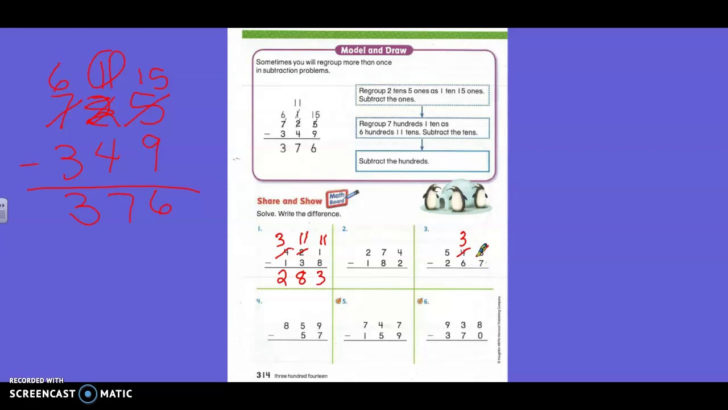 Subtraction Regroup Hundreds And Tens Lesson 6.9
