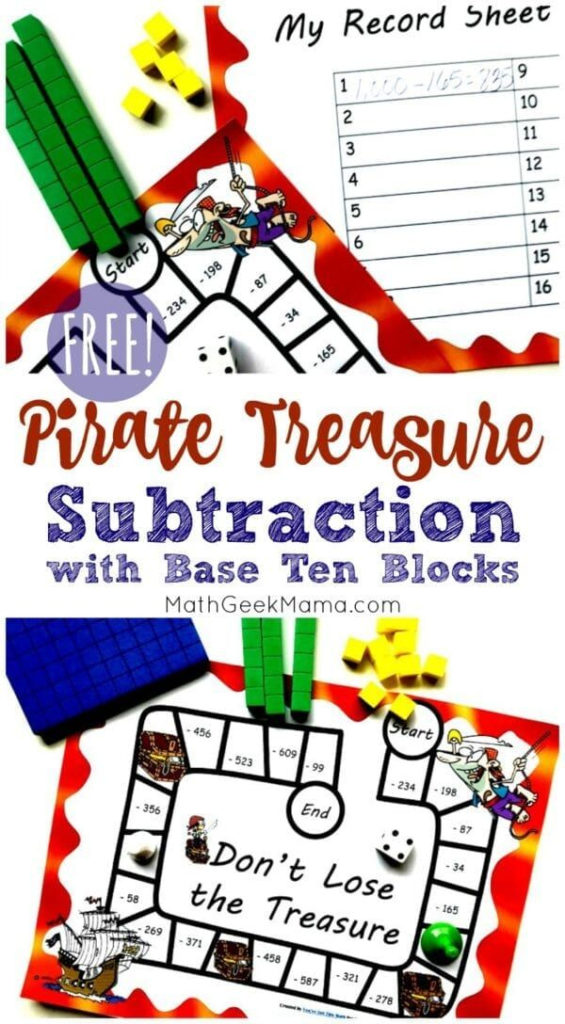 FREE 3 Digit Subtraction Printable With Regrouping