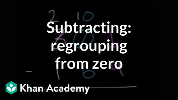 Subtraction Regrouping From Zero