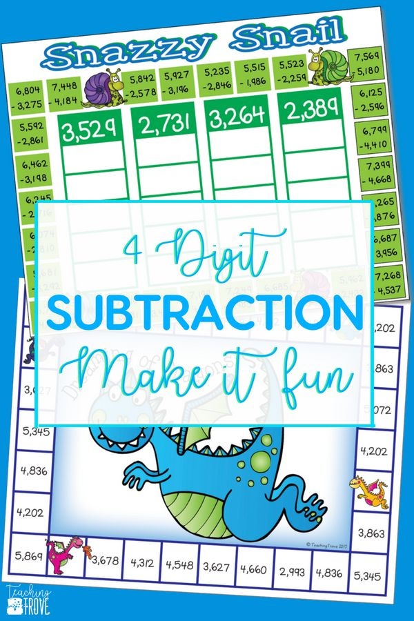 4 Digit Subtraction With Regrouping Games