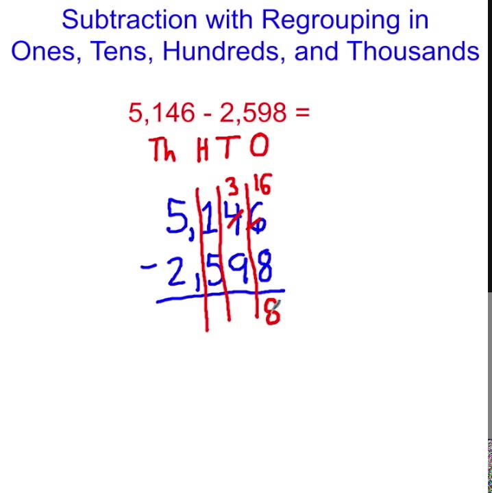 Subtraction With Regrouping In Hundreds And Thousands